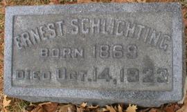 SCHLICHTING, ERNEST - Scott County, Iowa | ERNEST SCHLICHTING