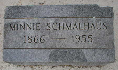 SCHMALHAUS, MINNIE - Scott County, Iowa | MINNIE SCHMALHAUS