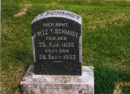 SCHMIDT, FREDERICK THEODORE - Scott County, Iowa | FREDERICK THEODORE SCHMIDT