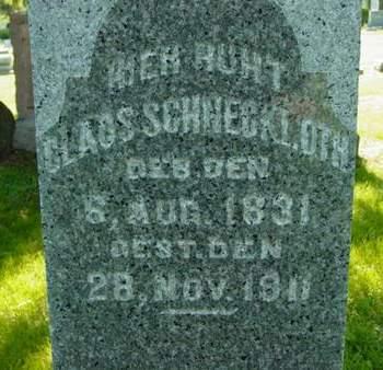 SCHNECKLOTH, CLAUS - Scott County, Iowa   CLAUS SCHNECKLOTH