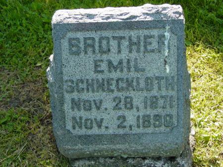 SCHNECKLOTH, EMIL - Scott County, Iowa | EMIL SCHNECKLOTH