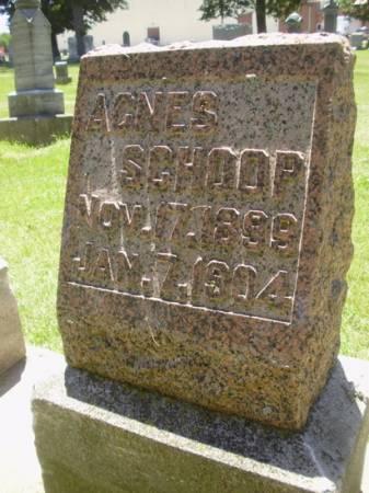 SCHOOP, AGNES - Scott County, Iowa   AGNES SCHOOP