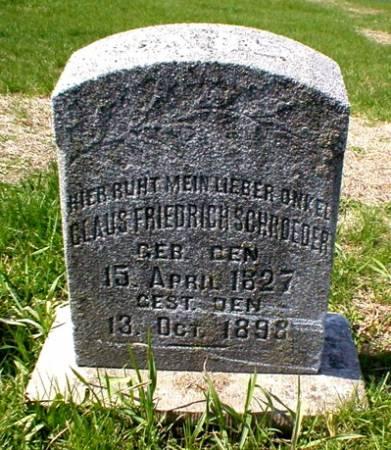 SCHROEDER, CLAUS FRIEDRICH - Scott County, Iowa | CLAUS FRIEDRICH SCHROEDER