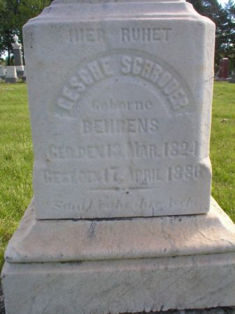 BEHRENS SCHROEDER, CESCHE - Scott County, Iowa | CESCHE BEHRENS SCHROEDER