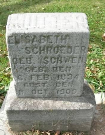 SCHWEN SCHROEDER, ELISABETH - Scott County, Iowa | ELISABETH SCHWEN SCHROEDER