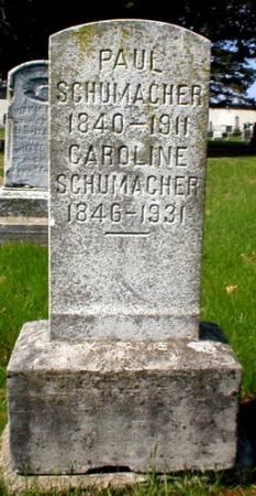 SCHUMACHER, CAROLINE - Scott County, Iowa   CAROLINE SCHUMACHER