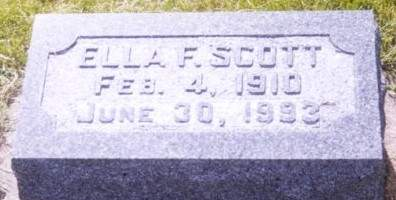 SCOTT, ELLA F. - Scott County, Iowa | ELLA F. SCOTT