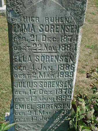 SORENSEN, JULIUS - Scott County, Iowa | JULIUS SORENSEN