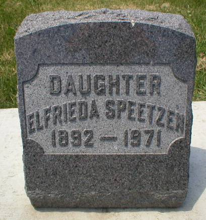 SPEETZEN, ELFRIEDA - Scott County, Iowa | ELFRIEDA SPEETZEN