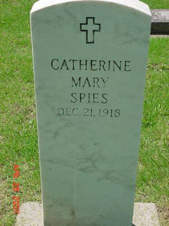 SPIES, CATHERINE MARY - Scott County, Iowa | CATHERINE MARY SPIES