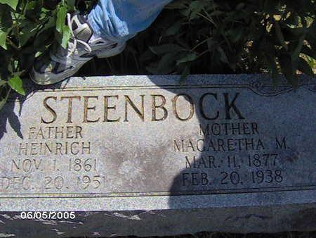 STEENBOCK, HEINRICH - Scott County, Iowa   HEINRICH STEENBOCK