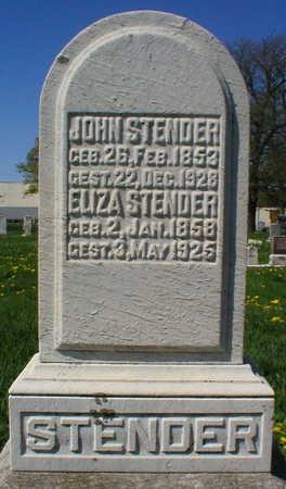 STENDER, ELIZA - Scott County, Iowa | ELIZA STENDER