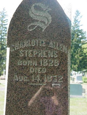 ALLEN STEPHENS, CHARLOTTE - Scott County, Iowa   CHARLOTTE ALLEN STEPHENS