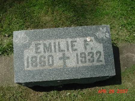 STREICHER, EMILIE F - Scott County, Iowa   EMILIE F STREICHER