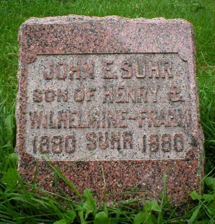 SUHR, JOHN E. - Scott County, Iowa | JOHN E. SUHR