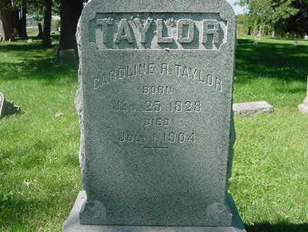 TAYLOR, CAROLINE R - Scott County, Iowa   CAROLINE R TAYLOR