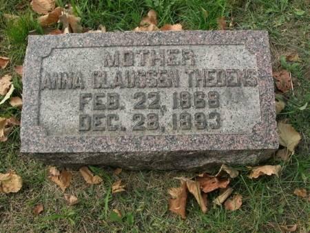 CLAUSSEN THEDENS, ANNA - Scott County, Iowa | ANNA CLAUSSEN THEDENS