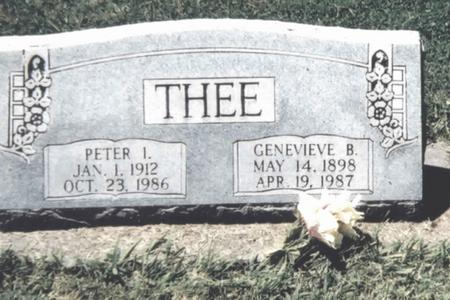 THEE, PETER I. - Scott County, Iowa | PETER I. THEE