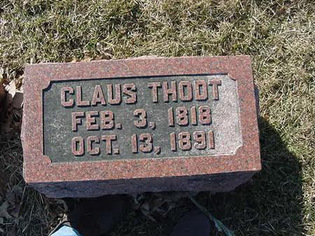 THODT, CLAUS - Scott County, Iowa | CLAUS THODT