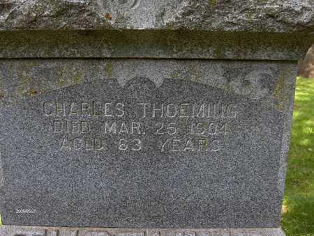 THOEMING, CHARLES - Scott County, Iowa   CHARLES THOEMING