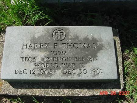 THOMAS, HARRY F - Scott County, Iowa | HARRY F THOMAS