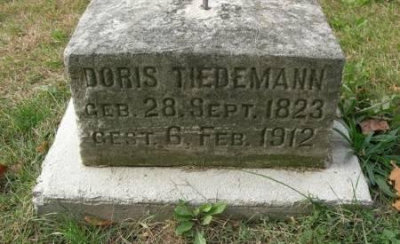 TIEDEMANN, DORIS - Scott County, Iowa   DORIS TIEDEMANN