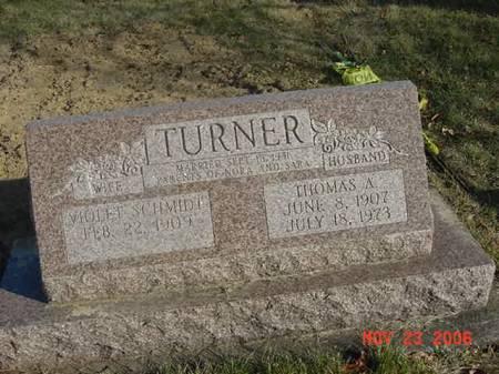 TURNER, THOMAS A - Scott County, Iowa   THOMAS A TURNER