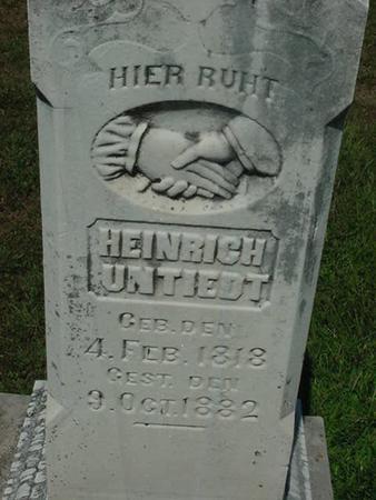 UNTIEDT, HEINRICH - Scott County, Iowa | HEINRICH UNTIEDT