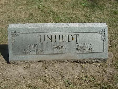 UNTIEDT, WILHELM - Scott County, Iowa | WILHELM UNTIEDT