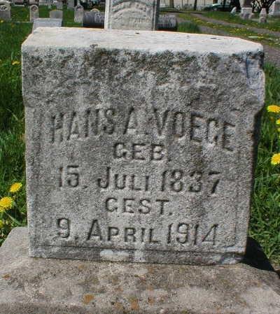 VOEGE, HANS A. - Scott County, Iowa   HANS A. VOEGE
