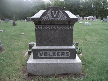 VOELKERS (VOLKERS), FAMILY STONE - Scott County, Iowa   FAMILY STONE VOELKERS (VOLKERS)