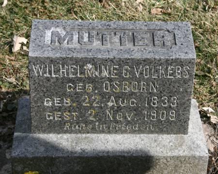 OSBORN VOLKERS, WILHELMINA C. - Scott County, Iowa | WILHELMINA C. OSBORN VOLKERS