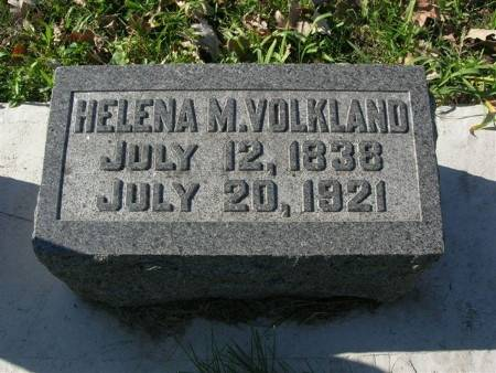 VOLKLAND, HELENA M. - Scott County, Iowa | HELENA M. VOLKLAND