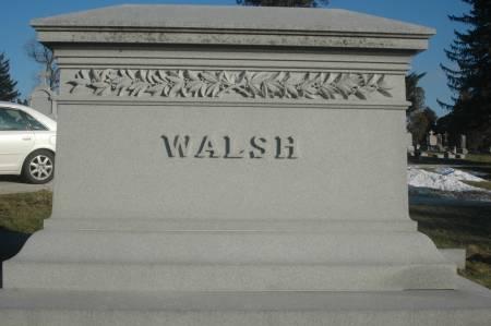 WALSH, FAMILY MONUMENT - Scott County, Iowa   FAMILY MONUMENT WALSH