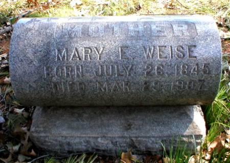 WEISE, MARY E. - Scott County, Iowa   MARY E. WEISE