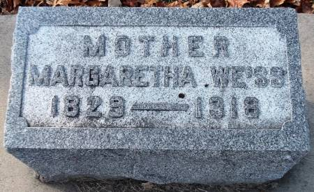 WEISS, MARGARETHA - Scott County, Iowa   MARGARETHA WEISS