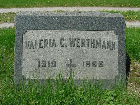 WERTHMANN, VALERIA CLARA - Scott County, Iowa | VALERIA CLARA WERTHMANN