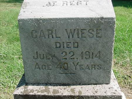 WIESE, CARL - Scott County, Iowa | CARL WIESE