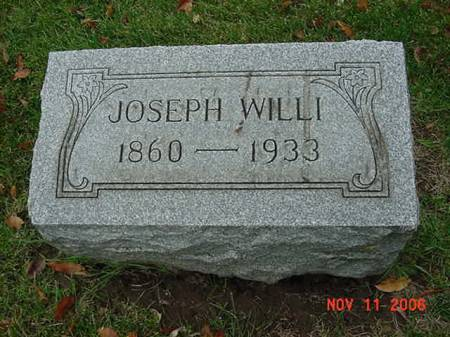 WILLI, JOSEPH - Scott County, Iowa | JOSEPH WILLI