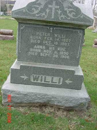 WILLI, PETER - Scott County, Iowa | PETER WILLI