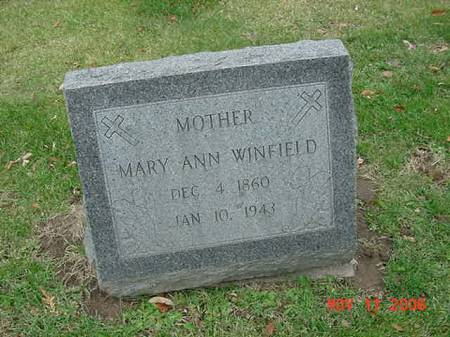 WINFIELD, MARY ANN - Scott County, Iowa | MARY ANN WINFIELD