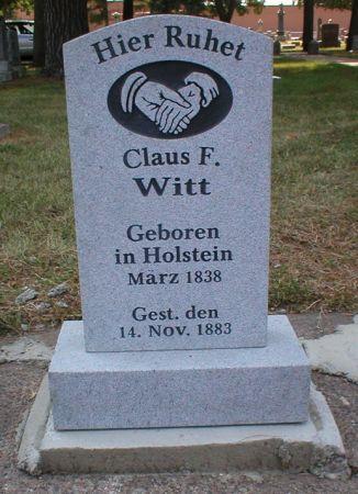 WITT, CLAUS F - Scott County, Iowa   CLAUS F WITT