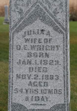 WRIGHT, JULIA A. - Scott County, Iowa   JULIA A. WRIGHT