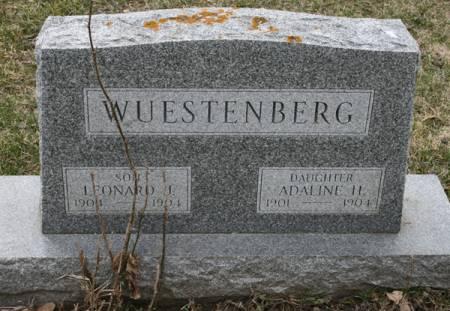 WUESTENBERG, ADALINE H. - Scott County, Iowa   ADALINE H. WUESTENBERG