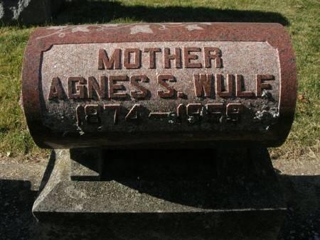 WULF, AGNES S. - Scott County, Iowa | AGNES S. WULF
