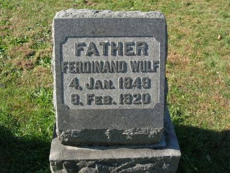 WULF, FERDINAND - Scott County, Iowa | FERDINAND WULF