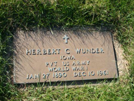 WUNDER, HERBERT C. - Scott County, Iowa   HERBERT C. WUNDER