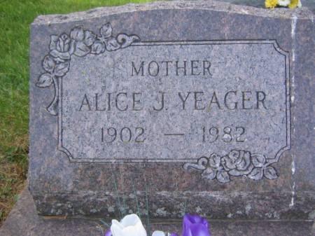 YEAGER, ALICE J. - Scott County, Iowa   ALICE J. YEAGER