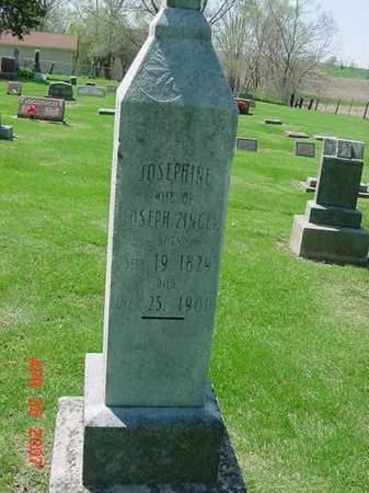 ZINGER, JOSEPHINE - Scott County, Iowa | JOSEPHINE ZINGER