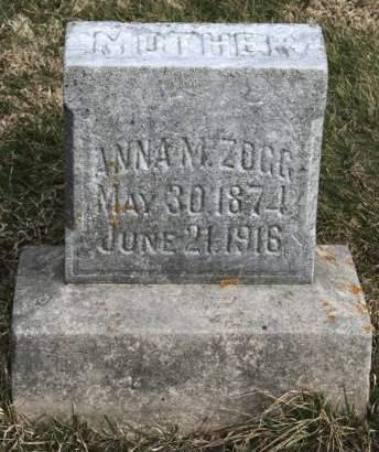 ZOGG, ANNA M. - Scott County, Iowa   ANNA M. ZOGG